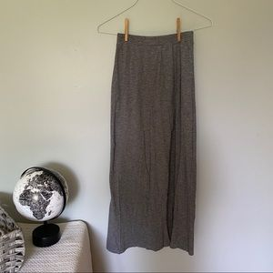 American Eagle Gray and Black Striped Maxi Skirt